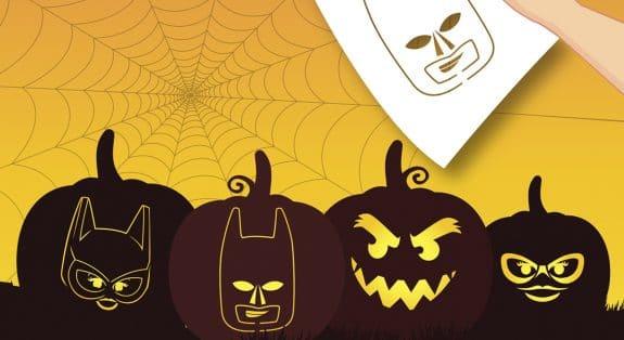 Lego Batman pumpkin stencils