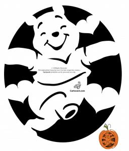 Winnie the Pooh pumpkin stencil