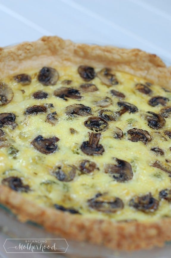 mushroom and swiss cheese quiche