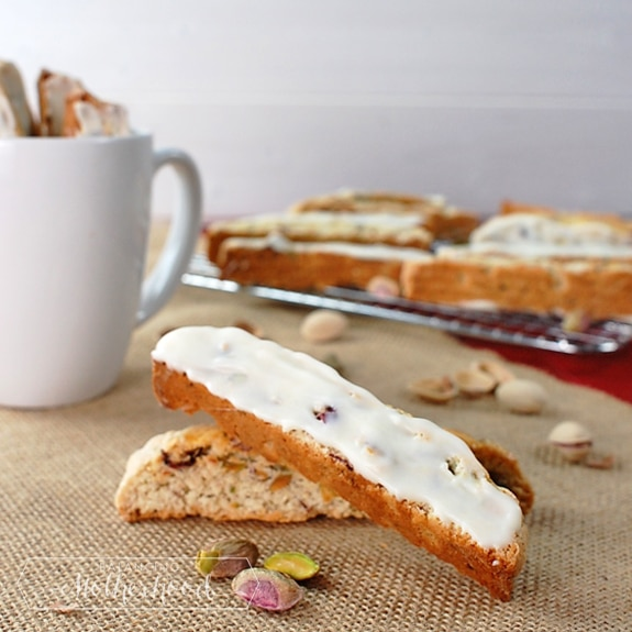 cherry and pistachio biscotti
