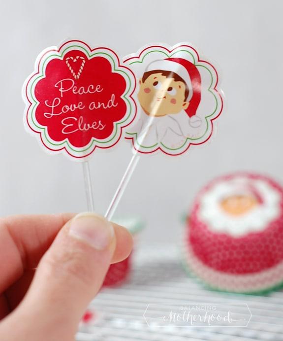Elf on the Shelf cupcake liners