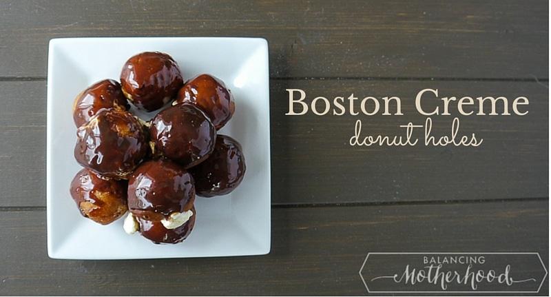 boston creme donut holes