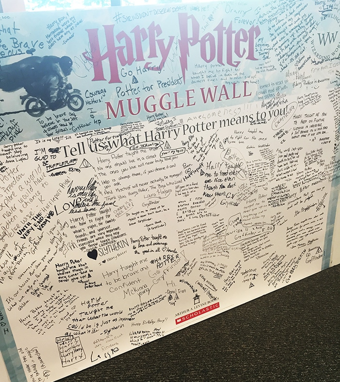 Harry Potter Muggle Wall |What Harry Potter Means to Me!