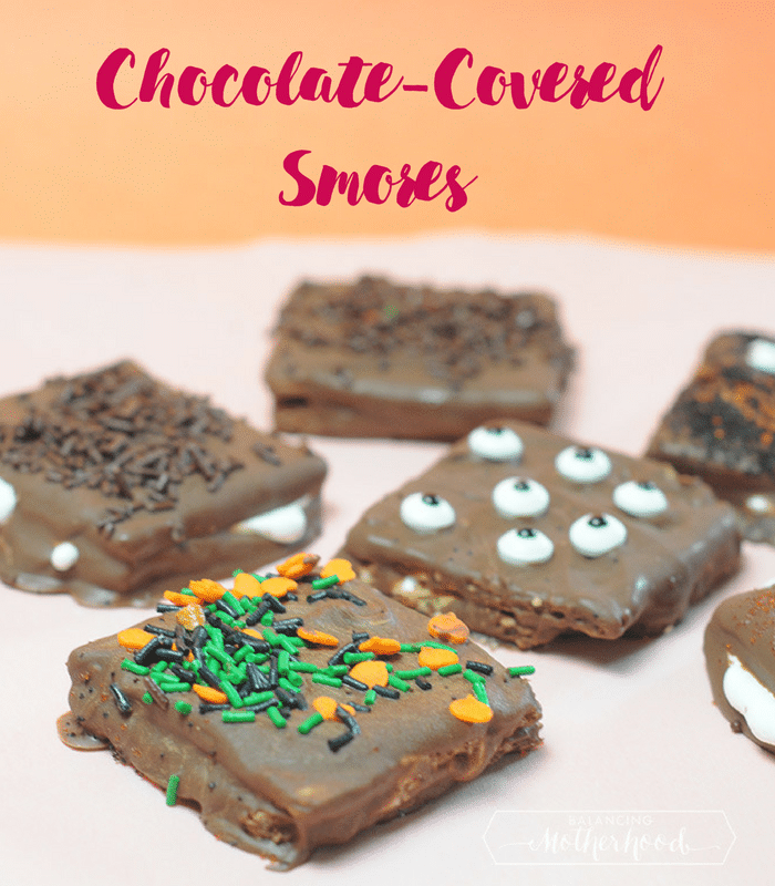 chocolate-covered smores