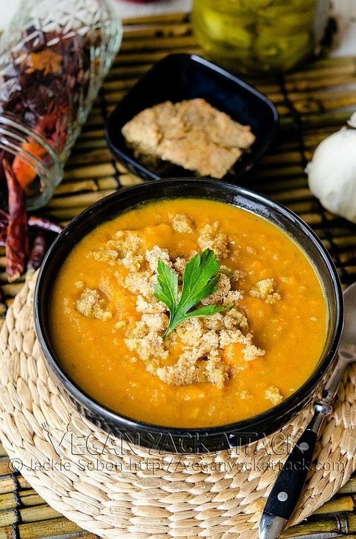 Smoky Sweet Potato Soup with Jalapeno Cornbread