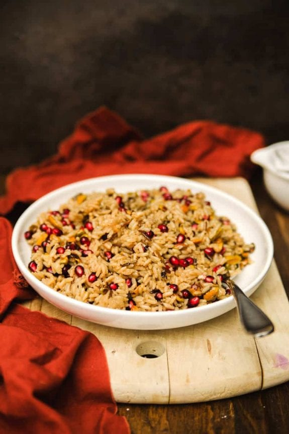 pomegranate wild rice