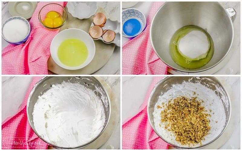 ingredients to make Italian meringue cookies