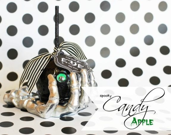 spooky candy apple