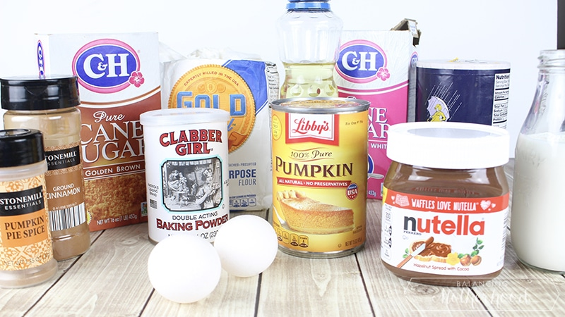 Pumpkin Nutella Muffins Ingredients