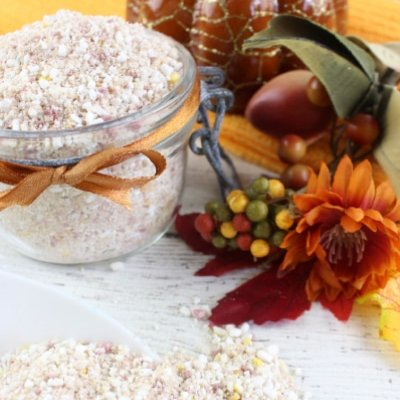 Pumpkin Spice Salt Scrub Featured Image