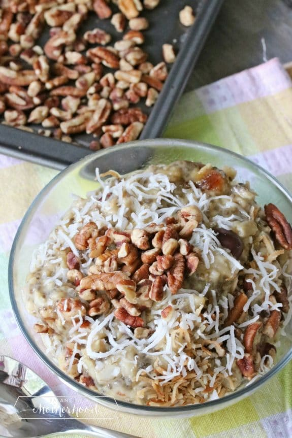 Pecans and no sugar oatmeal