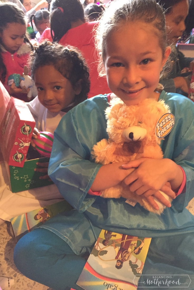 Girls with their presents