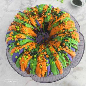 top down of bundt cake