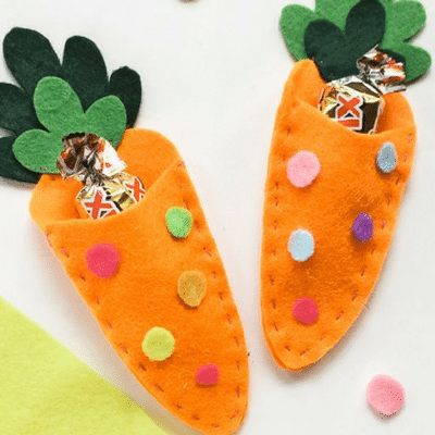 Easter Candy Pouch Felt Craft: Free Pattern