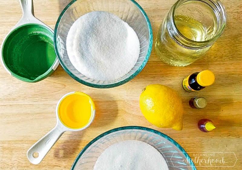sugar scrub ingredients