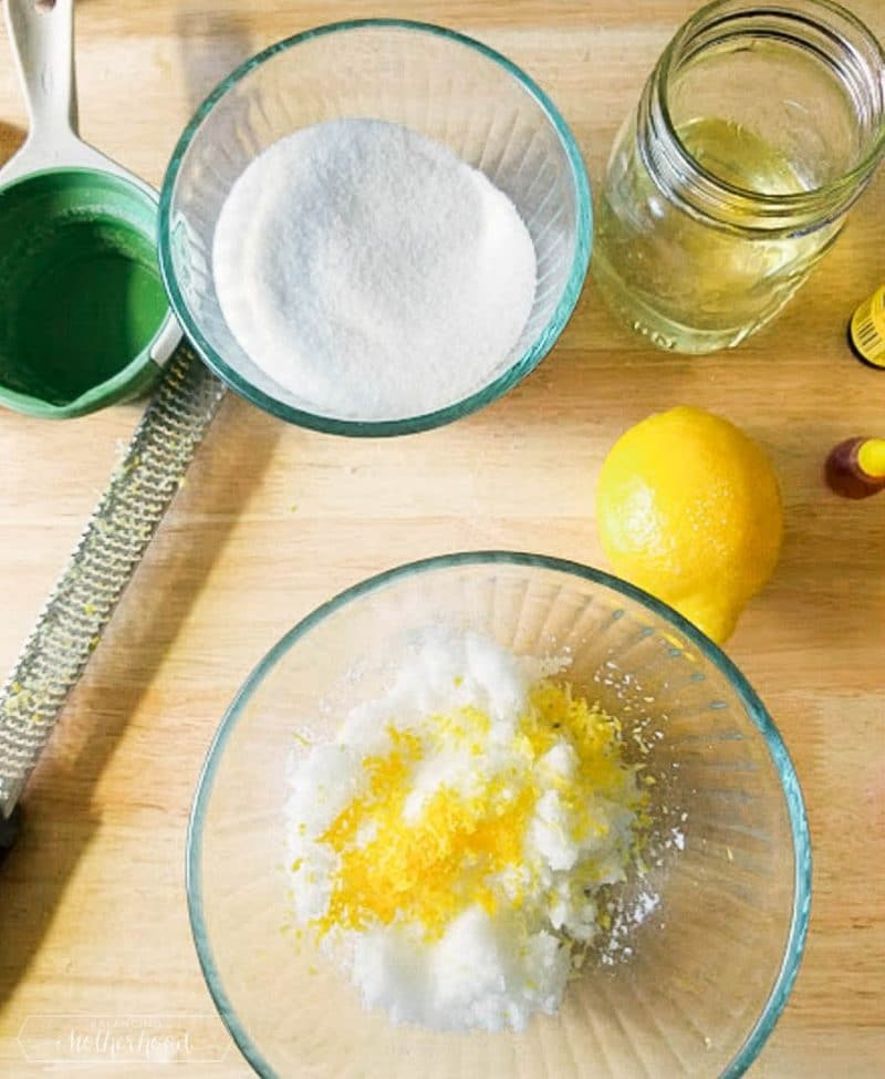 Exfoliate and have a glowing skin by trying this Lemon Sugar Scrub!