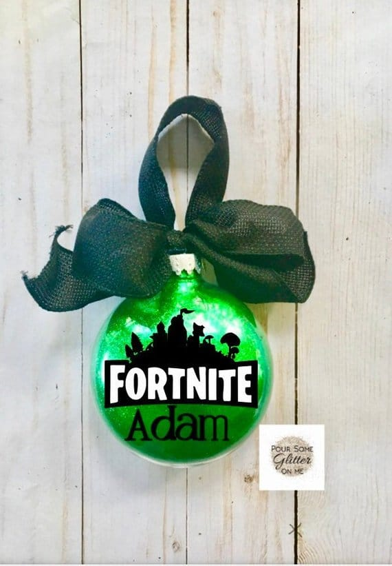 Personalized Fortnite Ornament