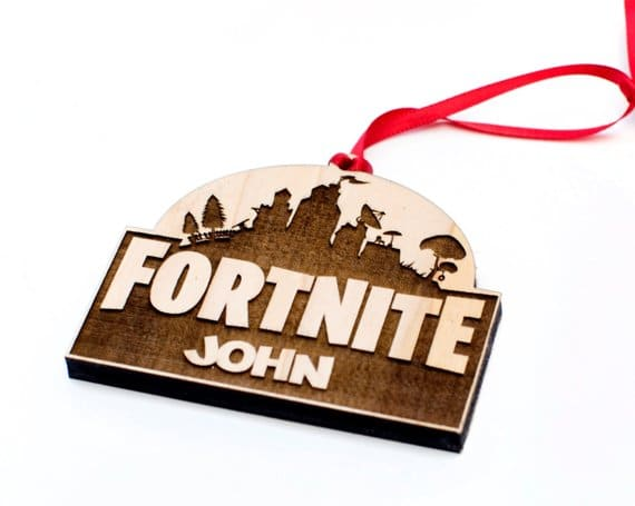 Fortnite customized Christmas ornament