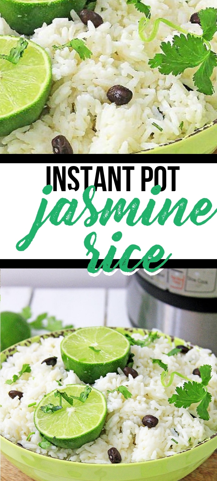 Easy instant pot jasmine rice with lime and cilantro! This is the perfect side dish and is so flavorful it's a great meal!
