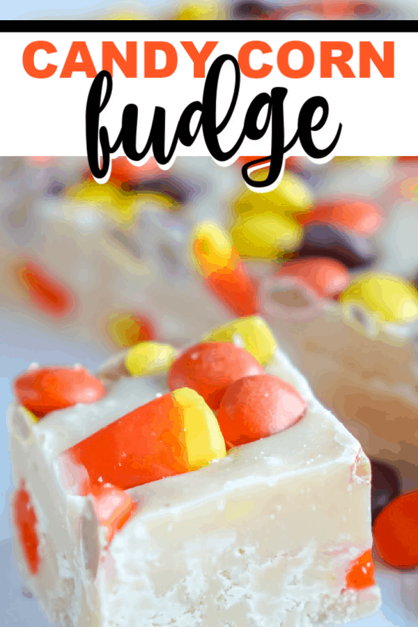 Amazing and easy candy corn fudge. Make this for any fall or Halloween treat. It's the best candy corn fudge around. We love candy corn and this treat is perfect to celebrate all the fall activities! The kids love it. #fall #halloween #halloweencandy #halloweendessert #candycorn #whitechocolate #nobake