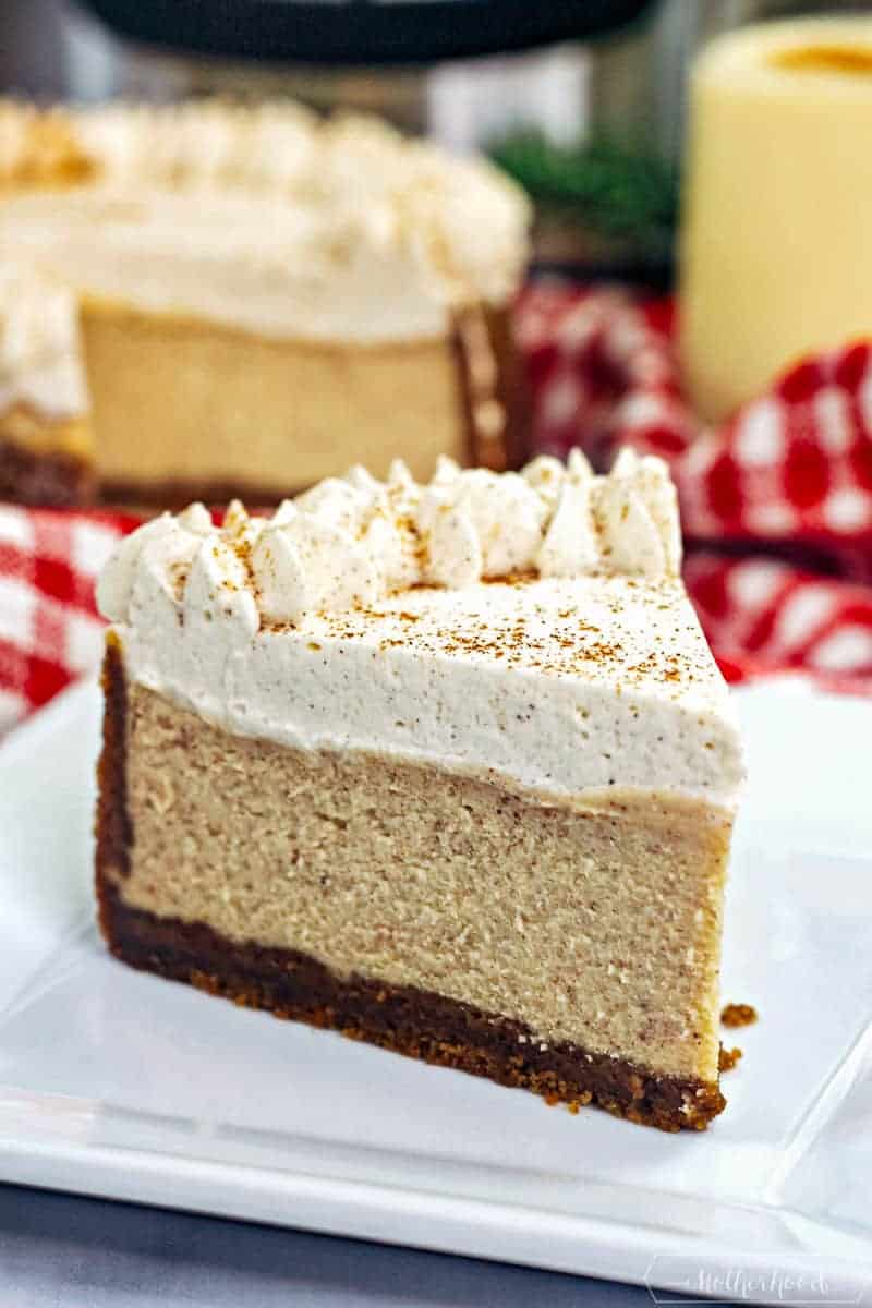 Have a cheesy holiday dessert with this Instant Pot Eggnog Cheesecake!