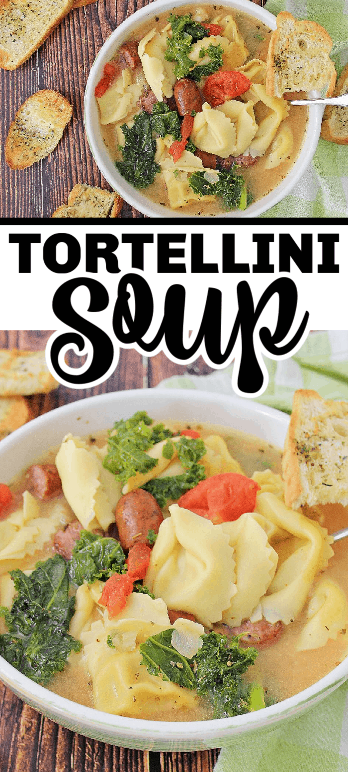Tortellini soup is a hearty meal for a crisp fall day or cold winter night.