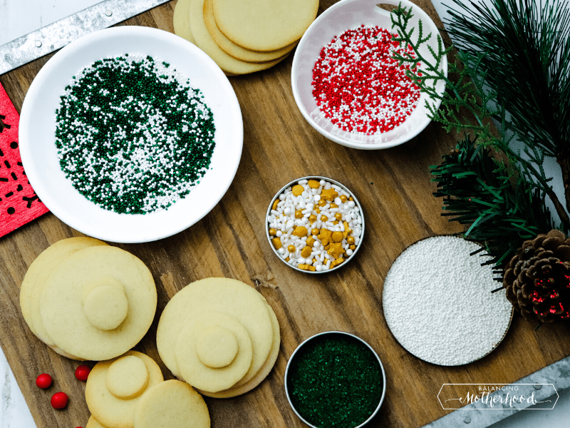 sugar cookies and sprinkles