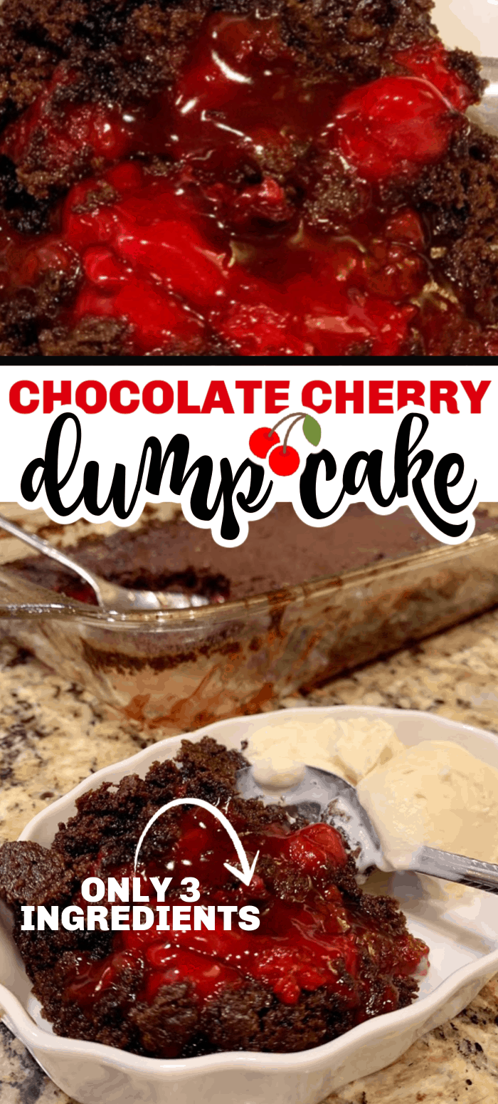Chocolate cherry dump cake is a chocolate cake base with rich cherry filling mixed together to create a rich chocolate dessert. You just dump and bake!