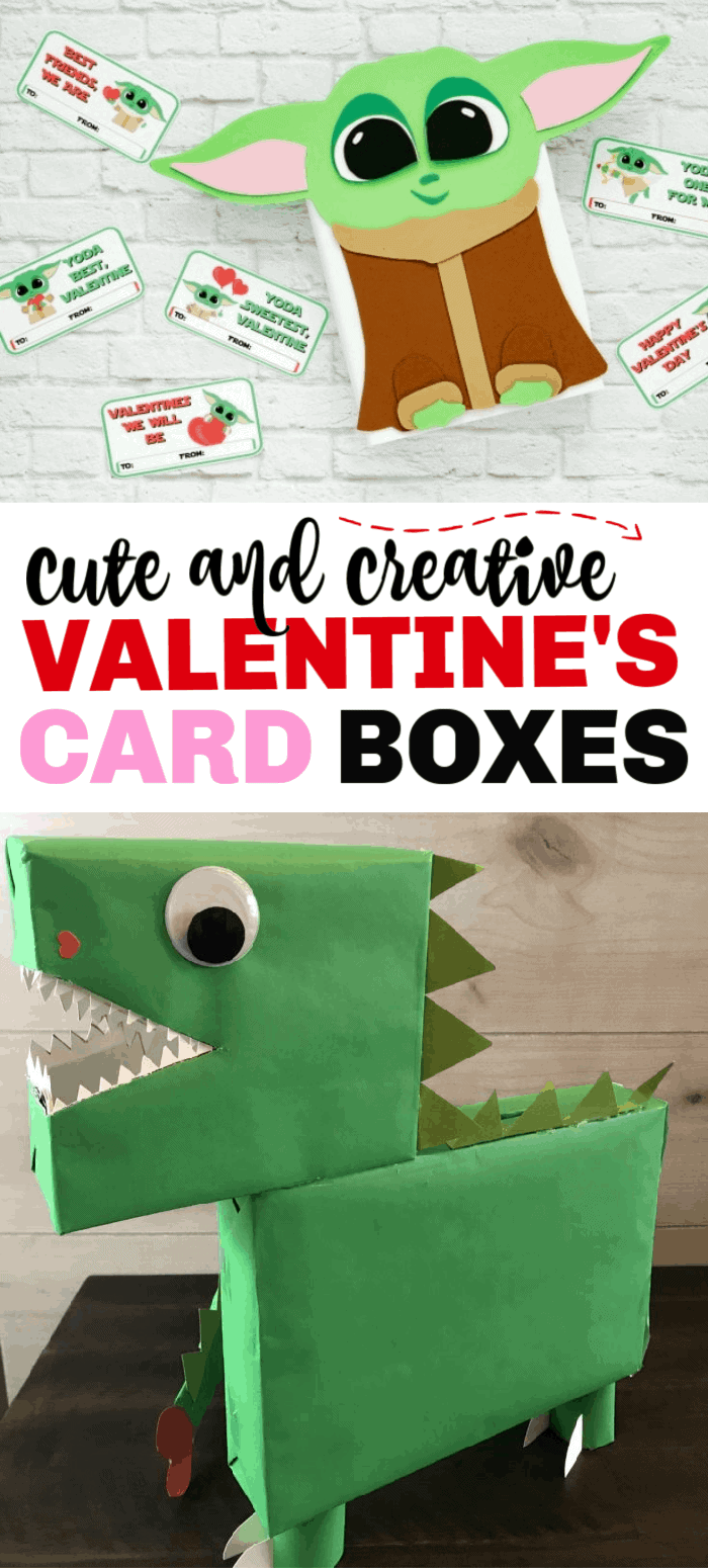 Valentine's Day card boxes are a fun way to collect Valentine's Day cards. These DIY card boxes are super easy to make and will make your kid stand out at school! Even a Baby Yoda box!