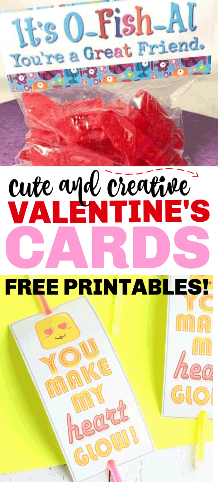 20+ Free Printable Valentine's Cards you can make at home. You're kids will absolutely fall in love with all of them!