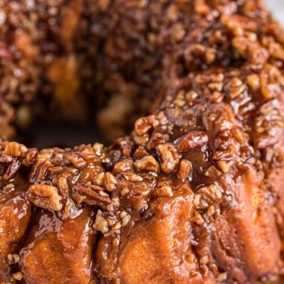 Sticky Bun with Biscuits