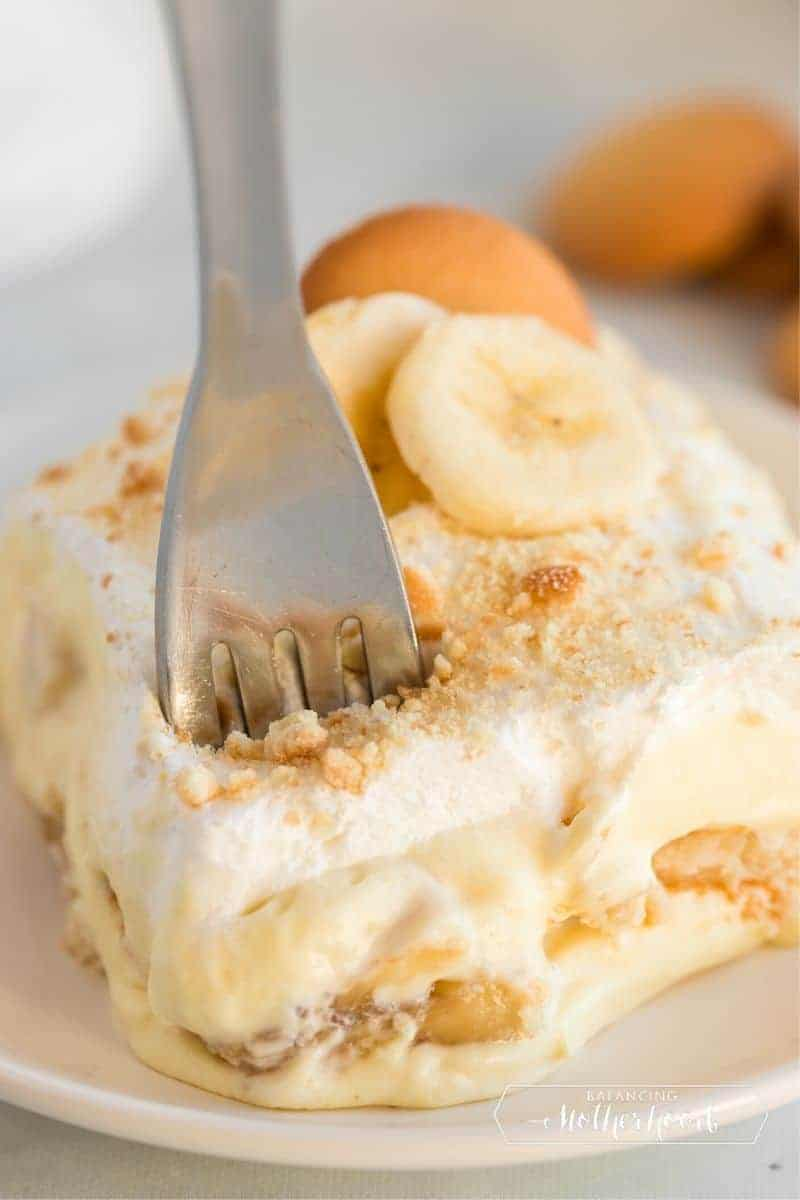 slice of banana pudding