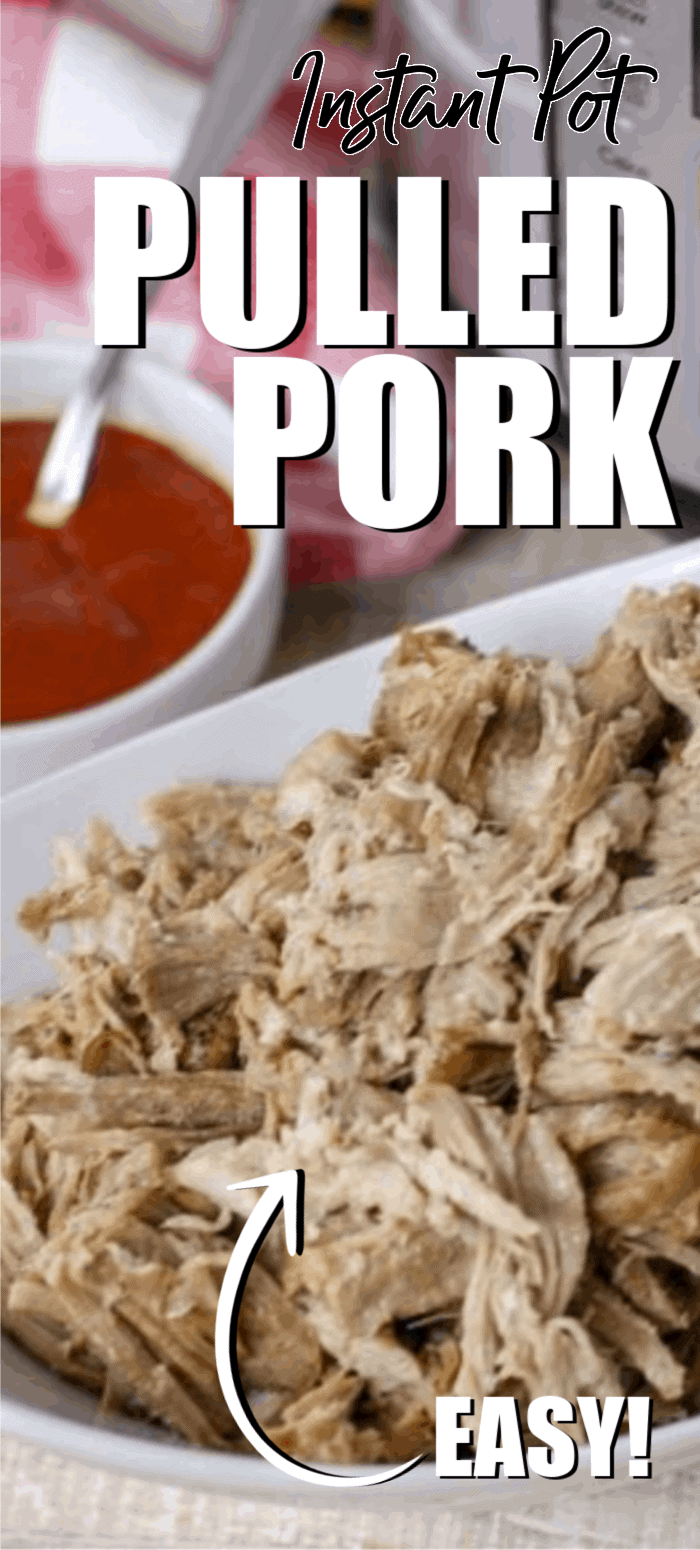 Instant Pot pulled pork is an easy way to make a great pork dinner and have plenty of leftovers for lunches the rest of the week. This pulled pork recipe brings out amazing flavors of the pork and keeps it moist. You can use pulled pork for so many recipes so it's like having multiple meals with just one cooking!