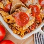 pasta casserole in dish