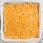 corn casserole from the top view