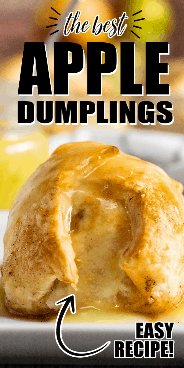 Apple dumplings are a great way to get all that fall flavor in one bite! This recipe uses crisp Granny Smith apples that pair perfectly with the brown sugar and butter filling, cinnamon and all wrapped in a pie crust and topped with a lemon glaze!