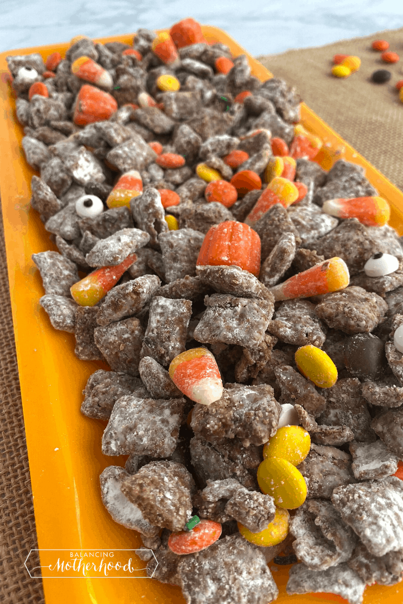 Halloween Puppy Chow Balancing Motherhood
