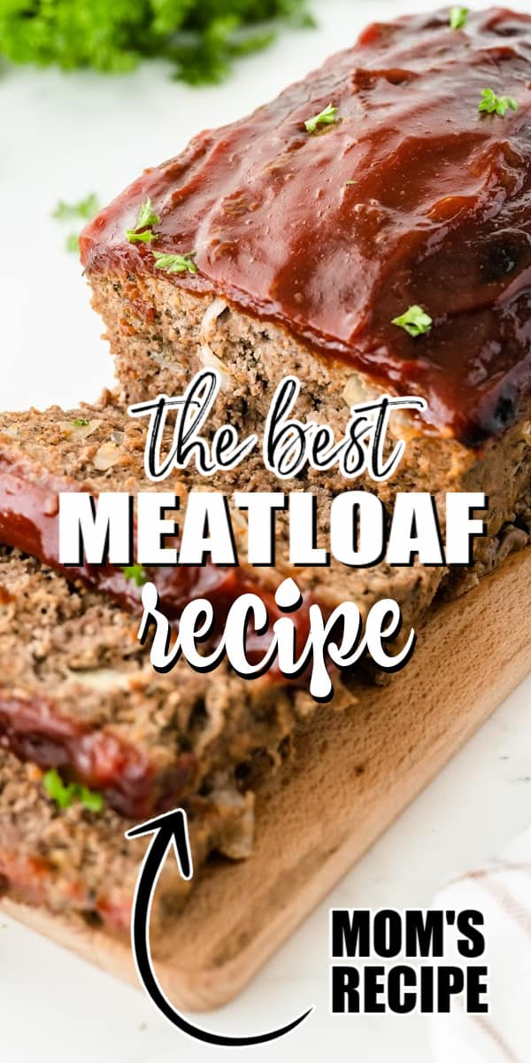 This easy meatloaf recipe is perfect comfort food flavored with juicy ground beef, Parmesan cheese, and Italian seasonings. This easy recipe is a classic like your mom used to make with a sweet tomato-based glaze.