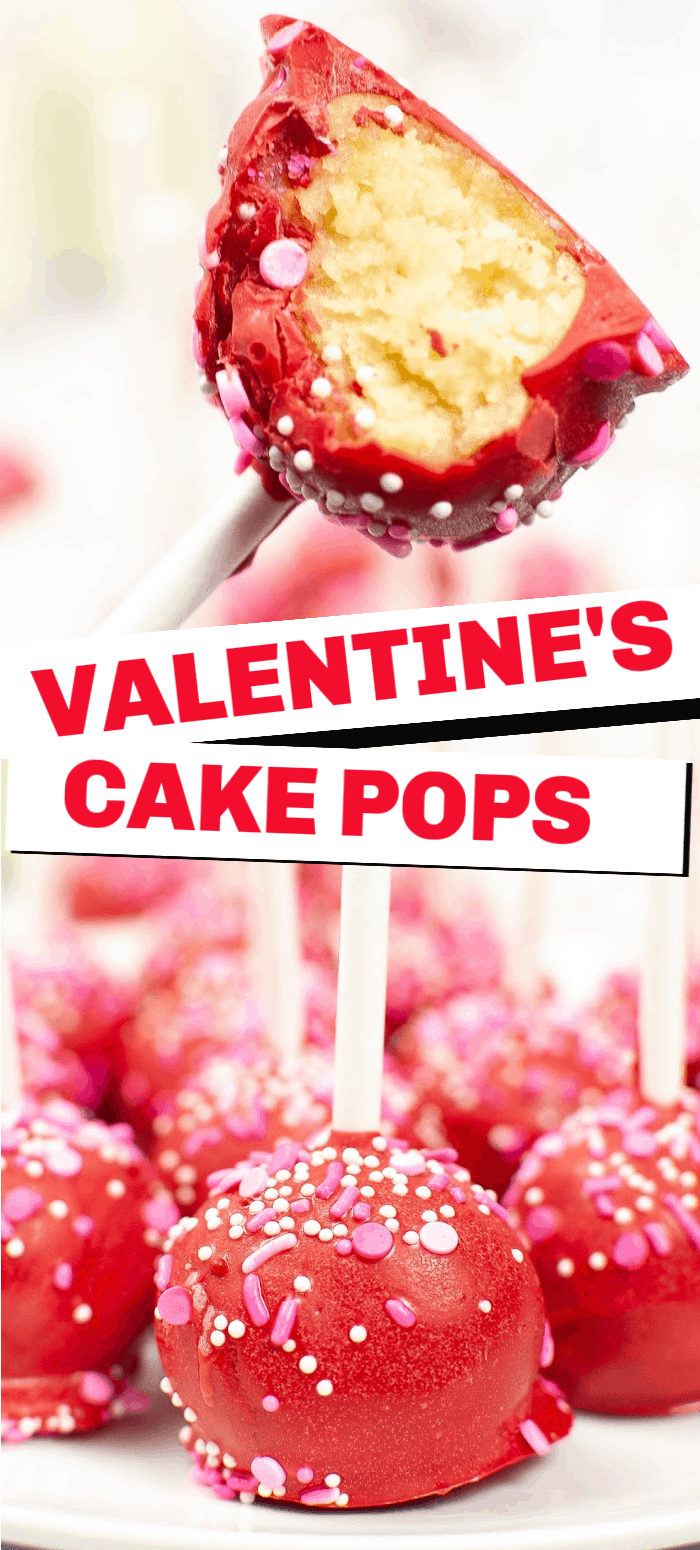Valentine's cake pops are a sweet treat for your kids or friends. They're a fun and simple treat that will be the hit of any Valentine's party.