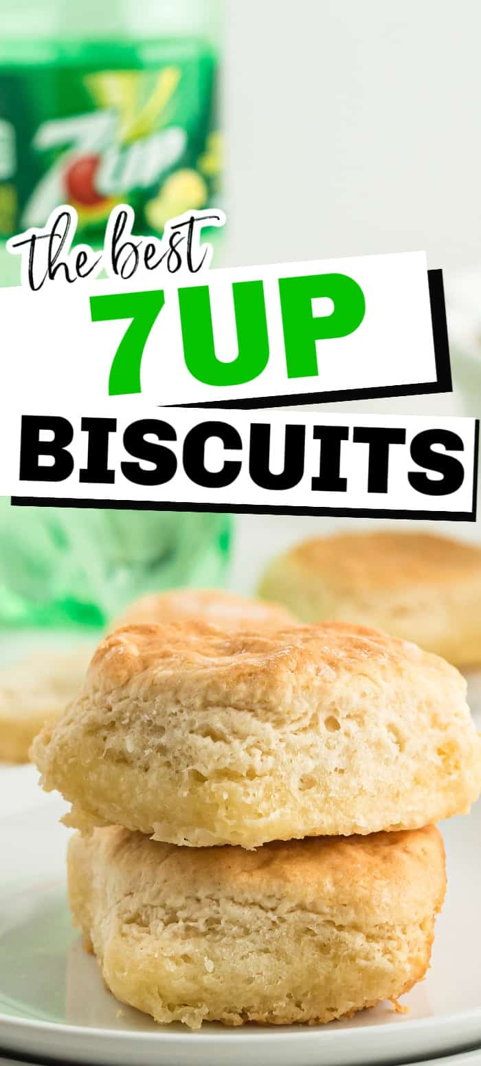 Our fluffy 7UP Biscuits are made with only 4 ingredients! These biscuits are sweet and fluffy with tons of butter flavor. They are simply the best biscuits you'll ever make!