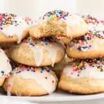 plate of italian cookies
