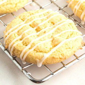 lemon cookie on rack