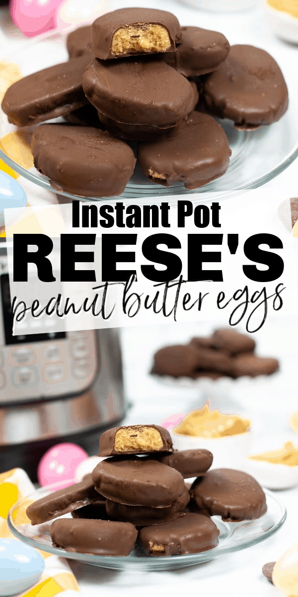 These copycat Reese's peanut butter eggs are even better than the original, filled with a creamy peanut butter center and topped with a thick coating of rich chocolate. Even better, you can make them in your Instant Pot.